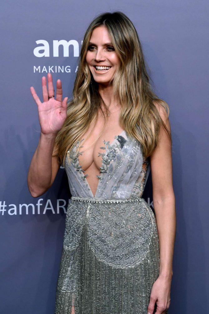 Heidi Klum – amfAR New York Gala 2019 in NYC