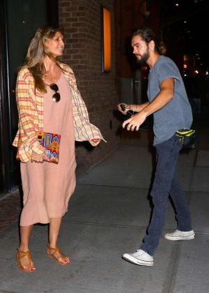 Heidi Klum and boyfriend Tom Kaulitz - Arrive back at their hotel in New York