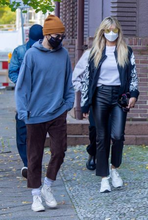 Heidi Klum and Helene Boshoven Samuel - Out for a apartment hunting in Berlin