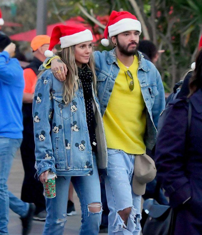 Heidi Klum and her boyfriend at Disneyland in Anaheim