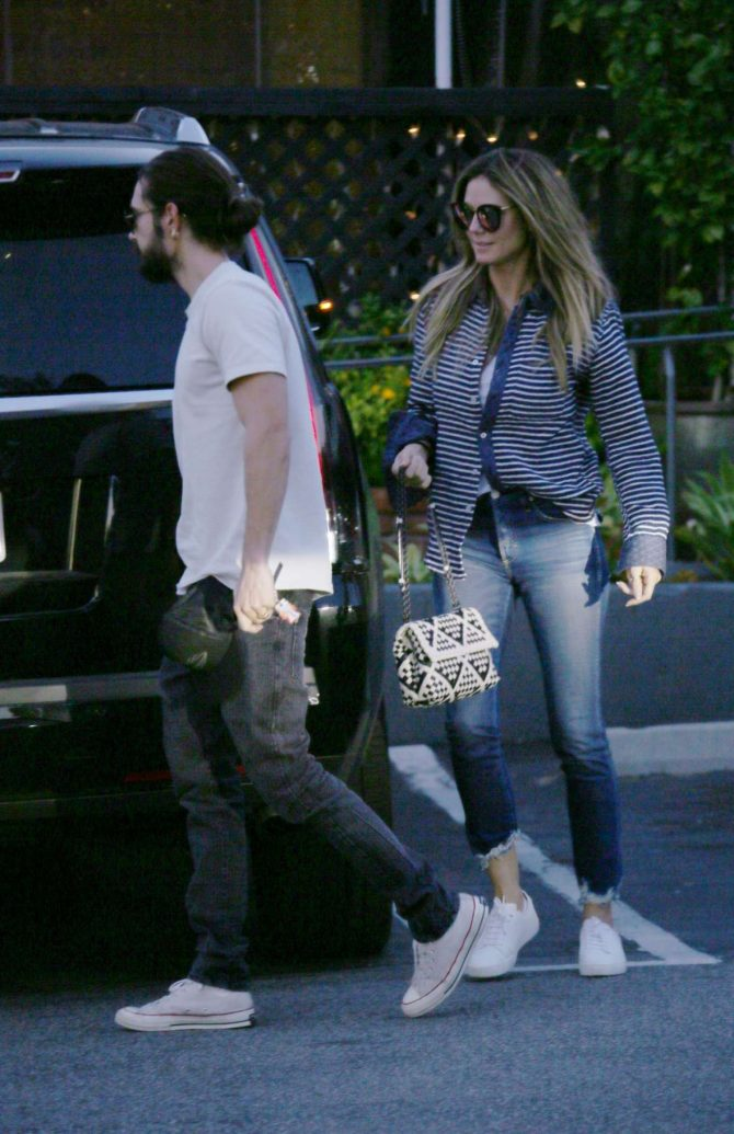 Heidi Klum and Tom Kaulitz – Out in Bel Air