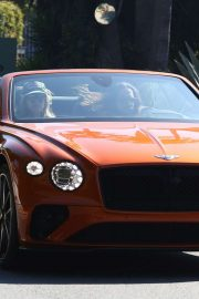 Heidi Klum and Tom Kaulitz - Spotted in their Bentley convertible