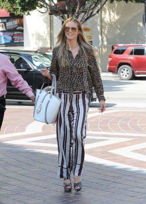 Heidi Klum - Arrives at Americas Got Talent Champions in Pasadena
