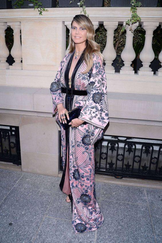 Heidi Klum – Arrives at amfAR Party in Paris-04
