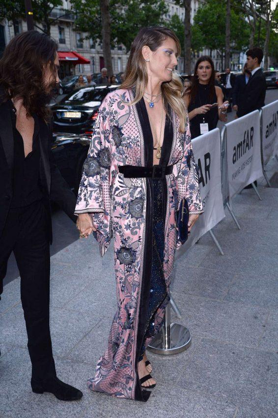 Heidi Klum – Arrives at amfAR Party in Paris-11
