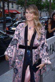 Heidi Klum - Arrives at amfAR Party in Paris