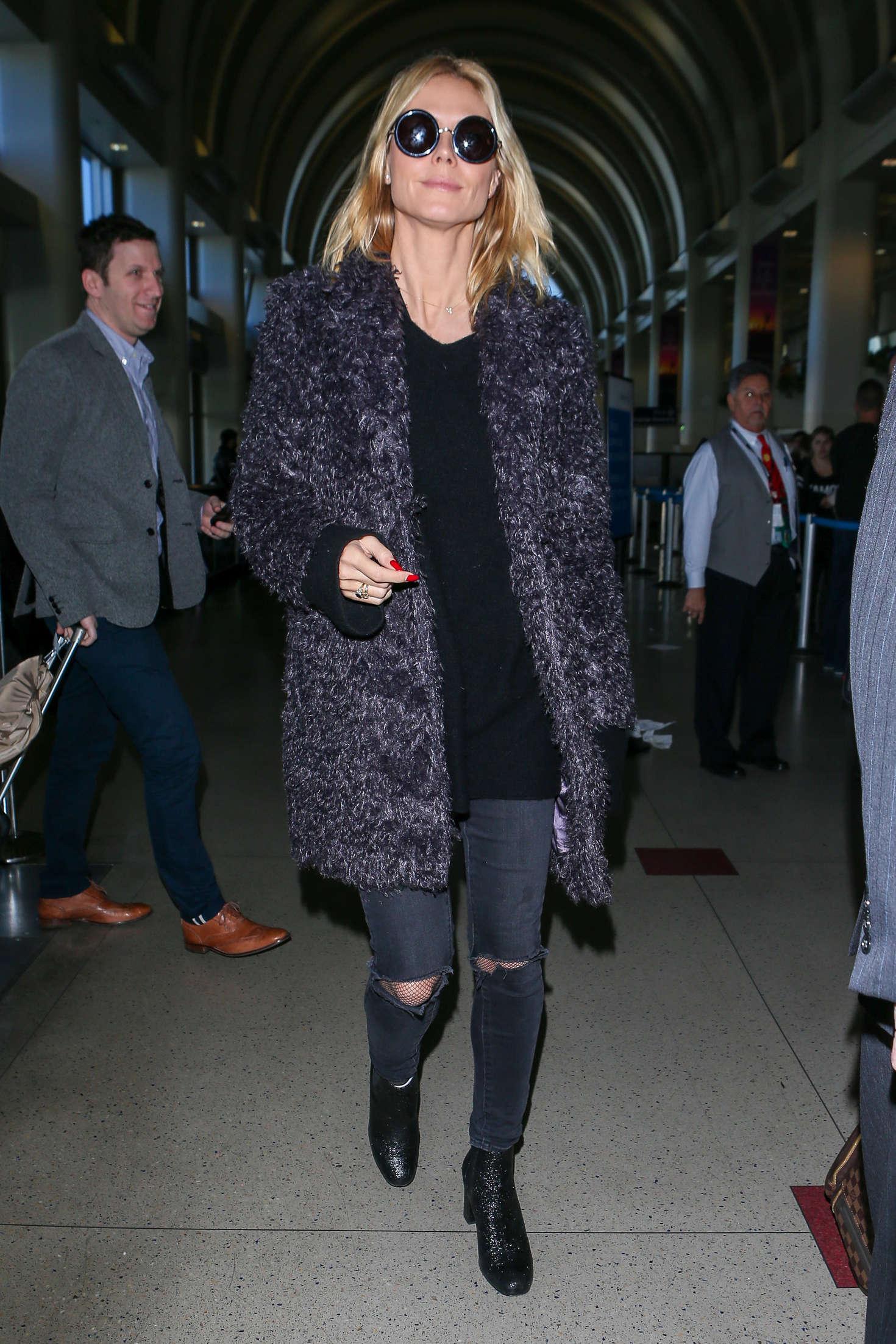 Heidi Klum 2015 : Heidi Klum: Arrives at LAX Airport -01