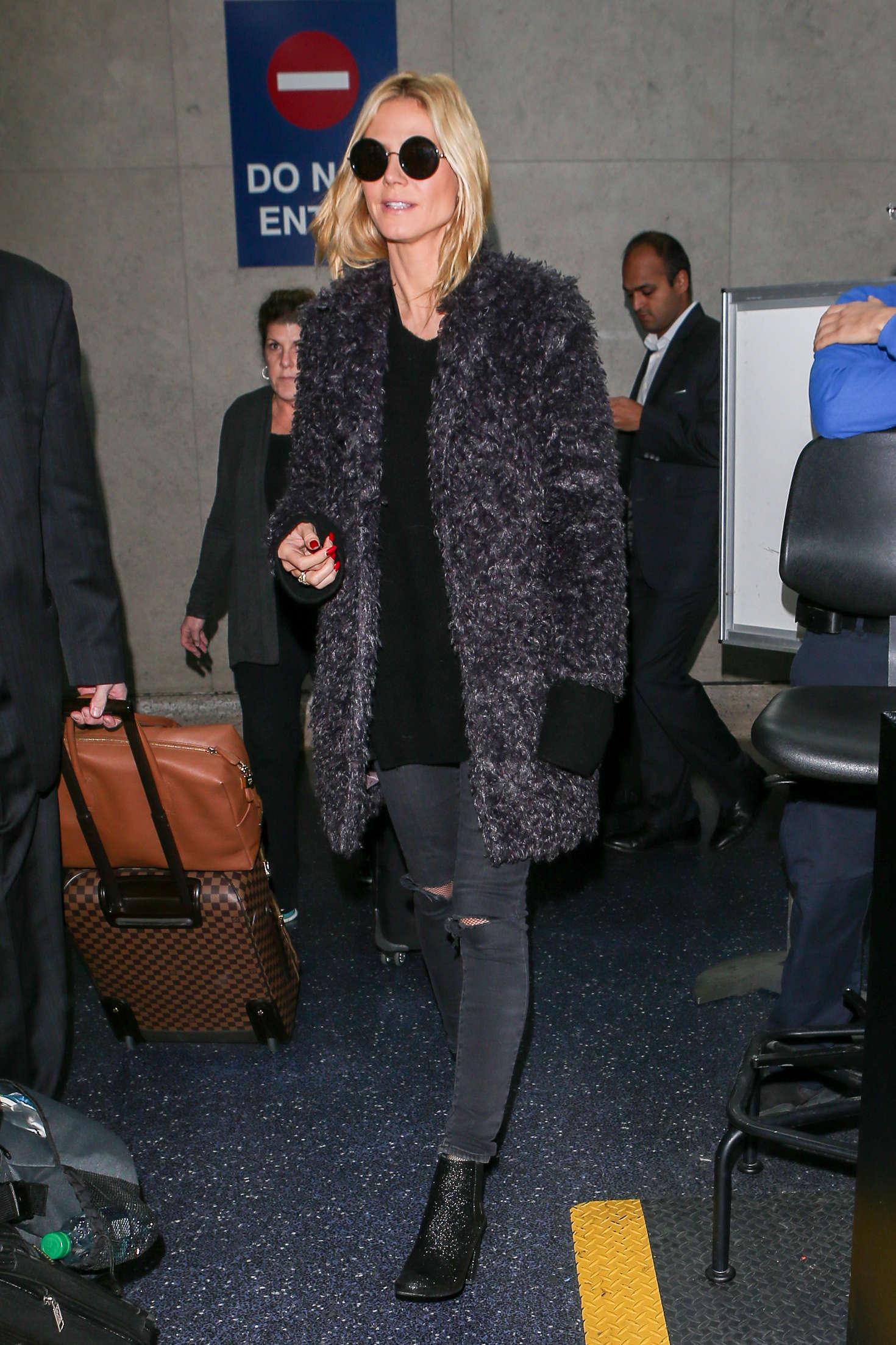 Heidi Klum 2015 : Heidi Klum: Arrives at LAX Airport -02