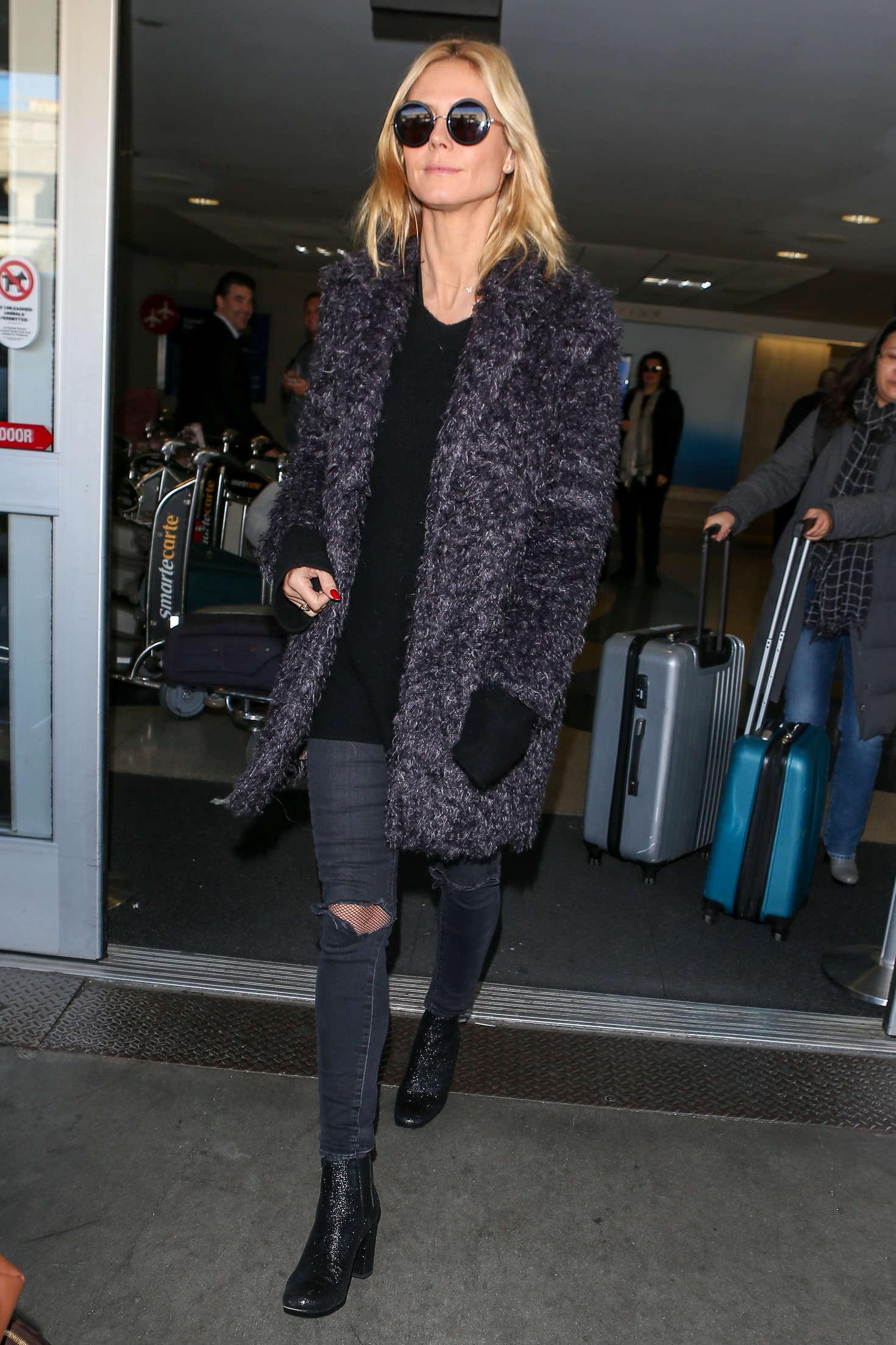 Heidi Klum 2015 : Heidi Klum: Arrives at LAX Airport -04