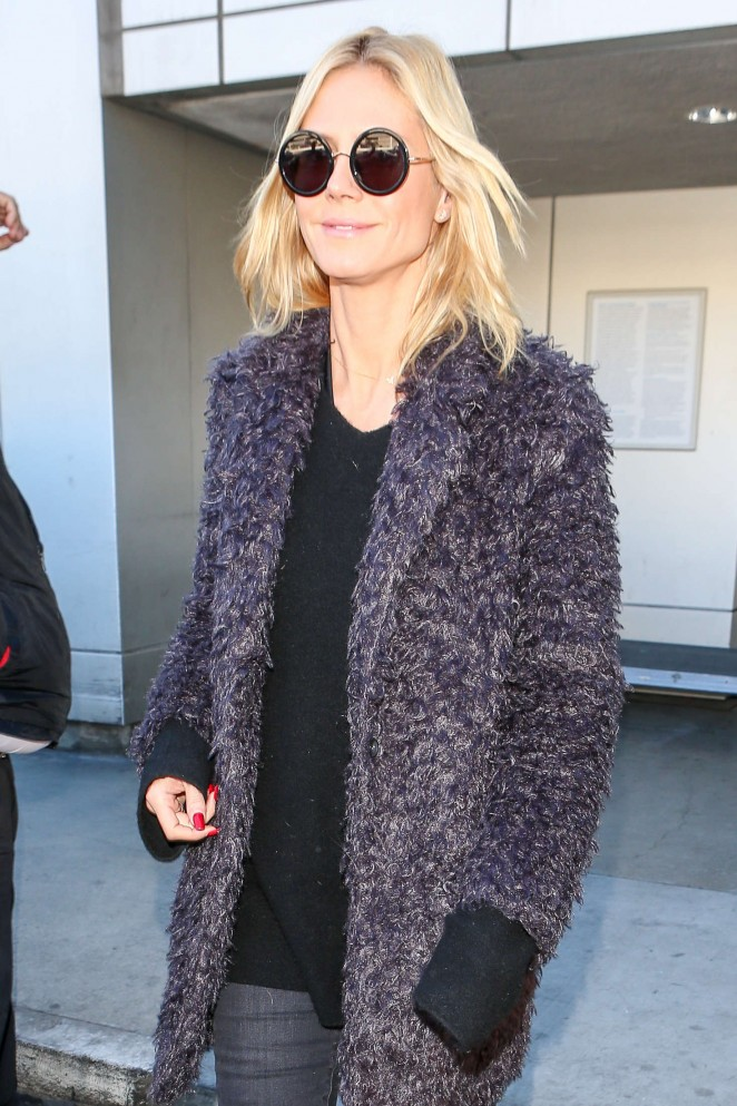 Heidi Klum - Arrives at LAX Airport in LA