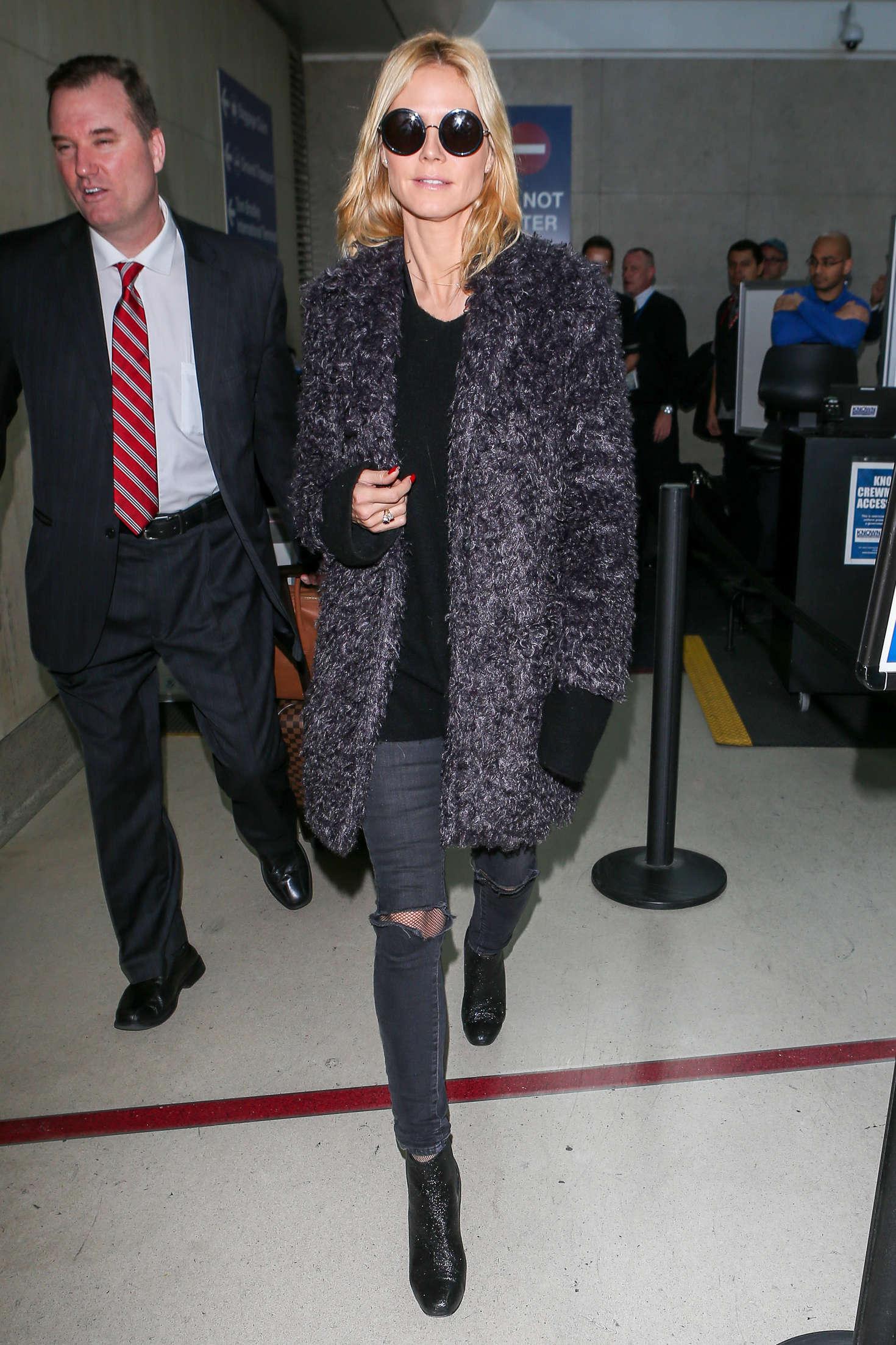 Heidi Klum 2015 : Heidi Klum: Arrives at LAX Airport -12