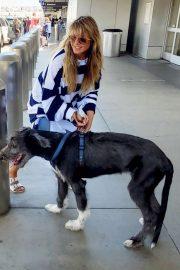 Heidi Klum - arrives at LAX Airport in Los Angeles