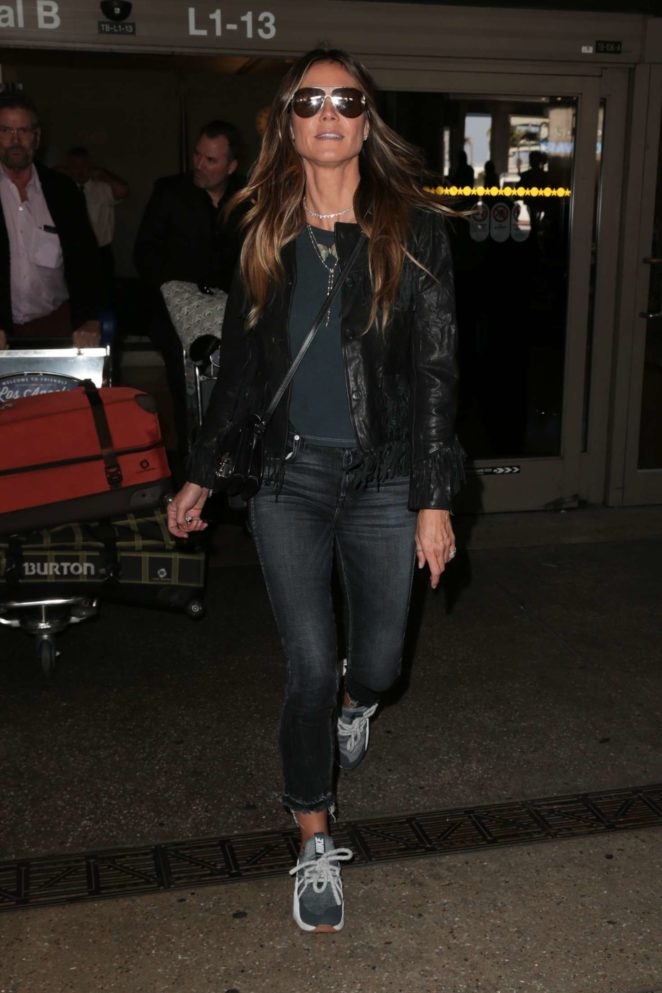 Heidi Klum - Arrives at LAX Airport in Los Angeles