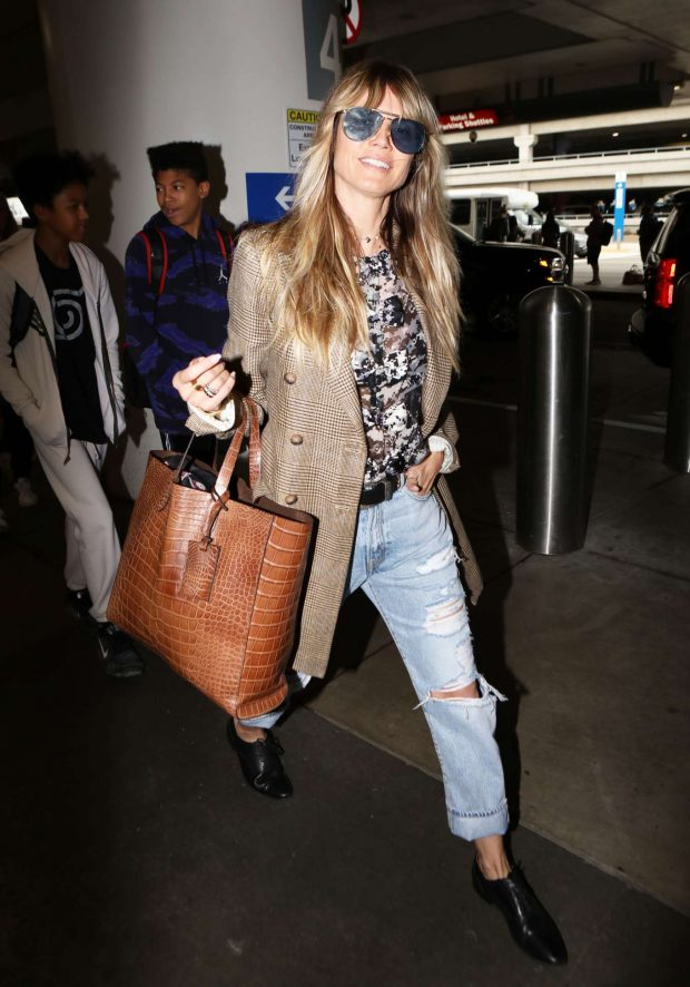 Heidi Klum: Arrives at LAX International Airport-06