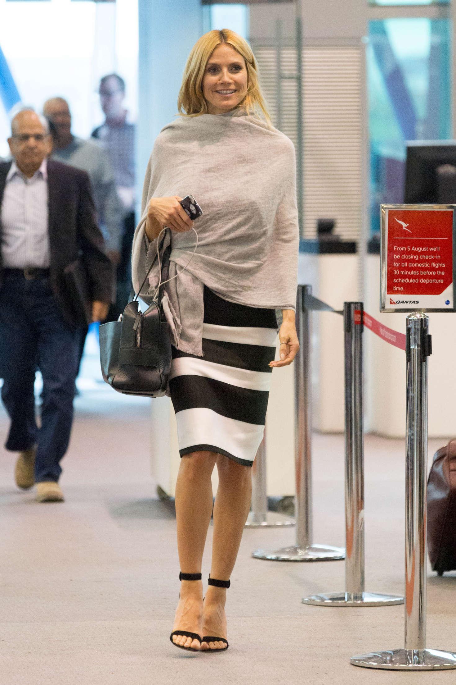 Heidi Klum 2016 : Heidi Klum Arrives at Sydney Airport -03