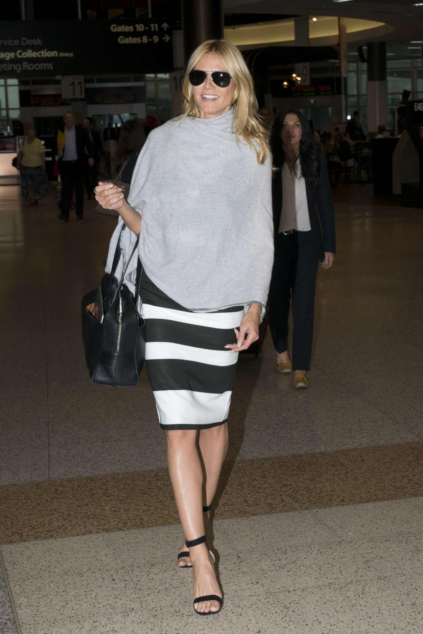 Heidi Klum 2016 : Heidi Klum Arrives at Sydney Airport -05