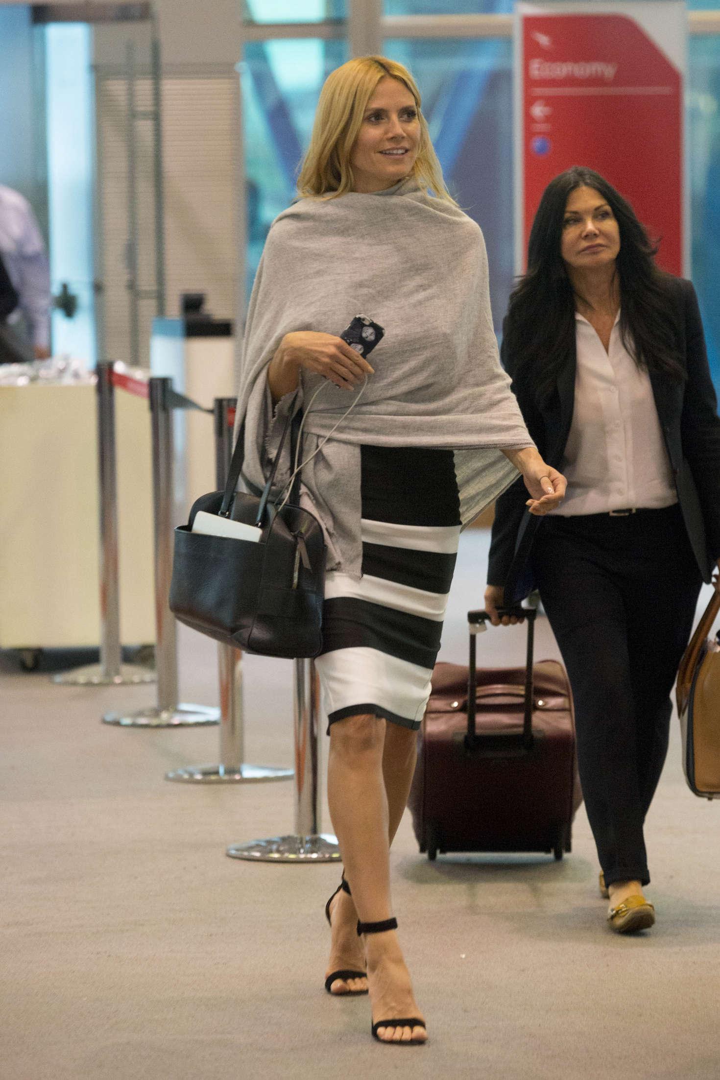 Heidi Klum 2016 : Heidi Klum Arrives at Sydney Airport -11