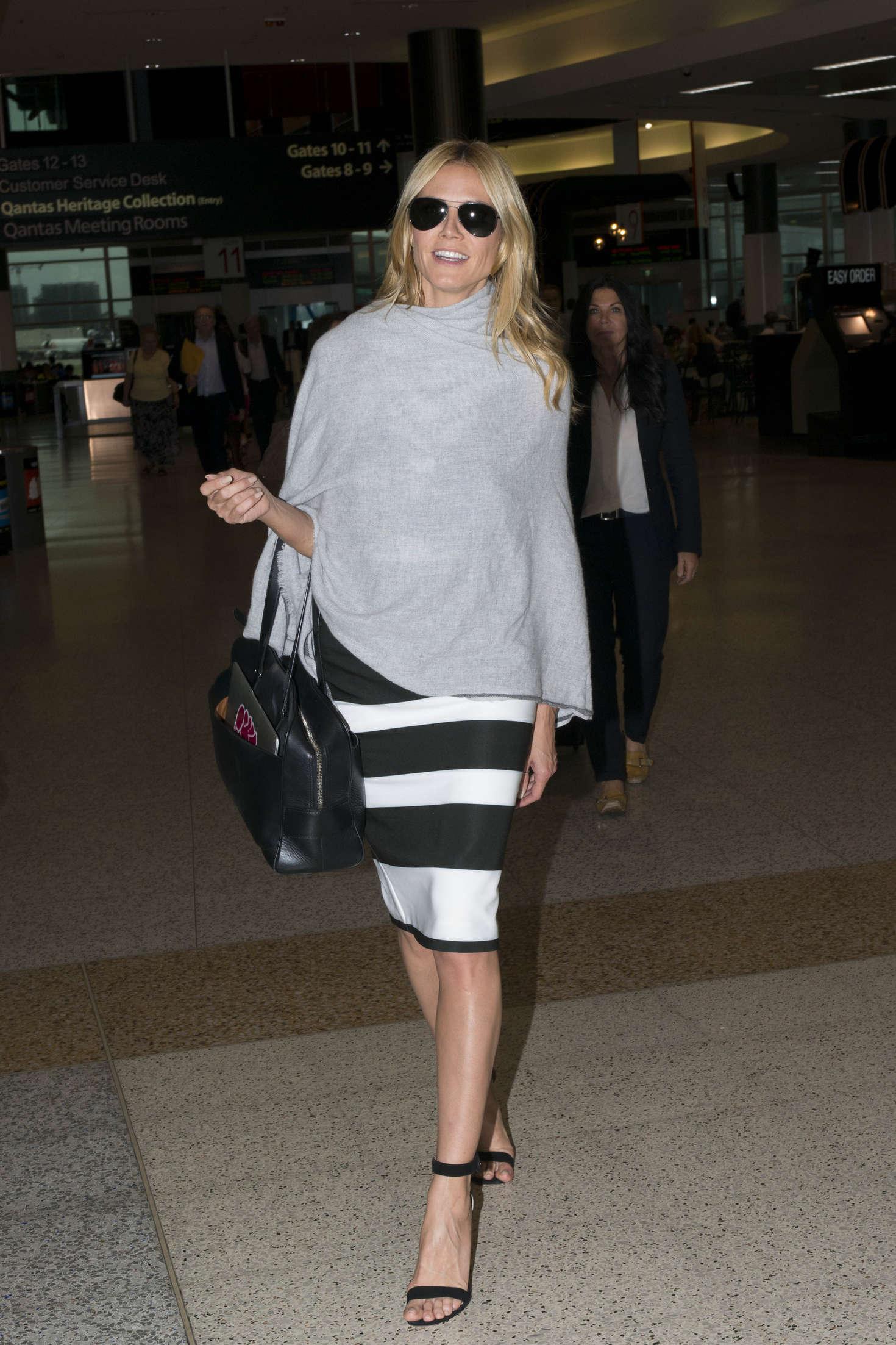 Heidi Klum 2016 : Heidi Klum Arrives at Sydney Airport -12