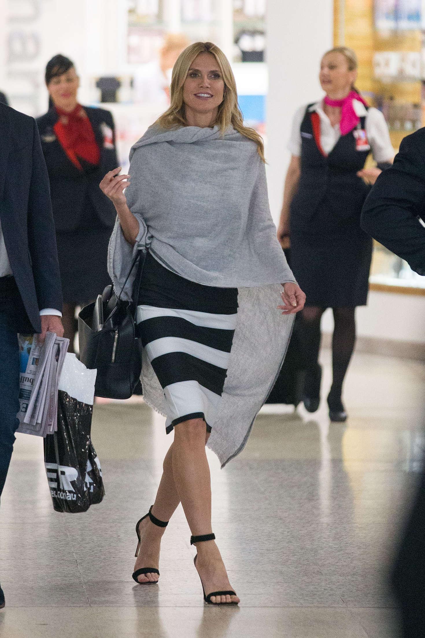 Heidi Klum 2016 : Heidi Klum Arrives at Sydney Airport -13