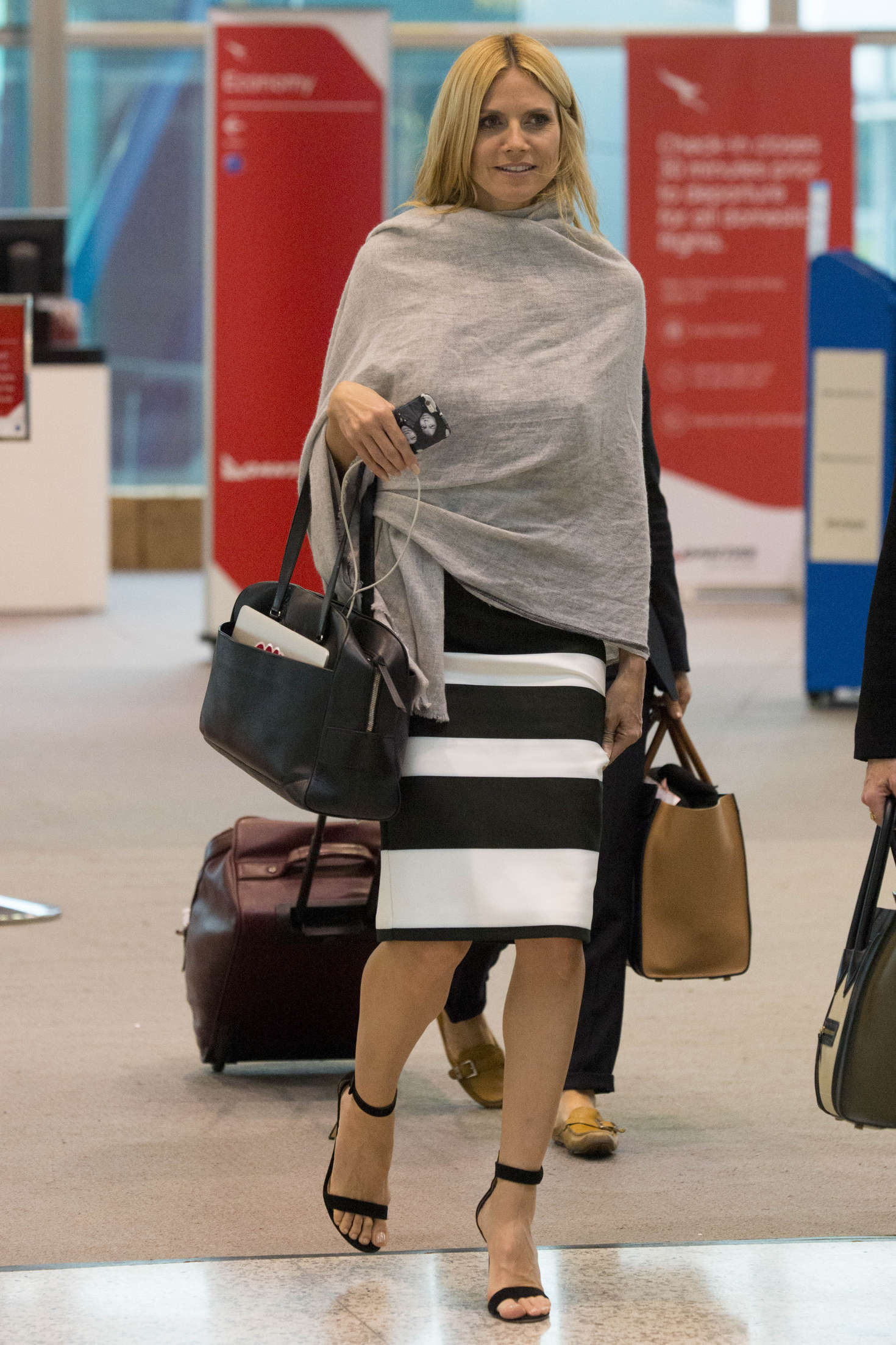 Heidi Klum 2016 : Heidi Klum Arrives at Sydney Airport -14