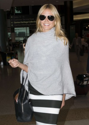 Heidi Klum Arrives at Sydney Airport