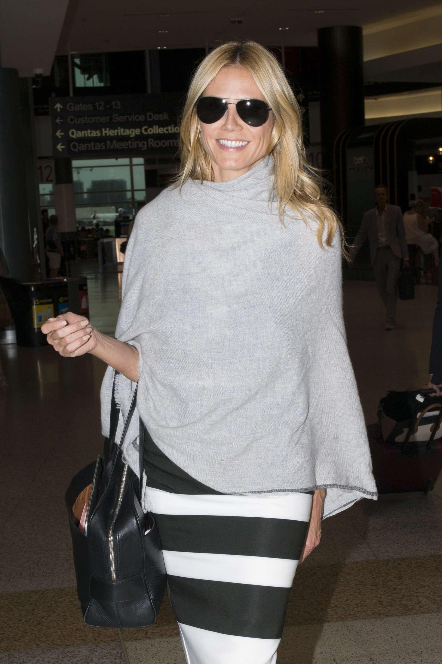 Heidi Klum Arrives at Sydney Airport