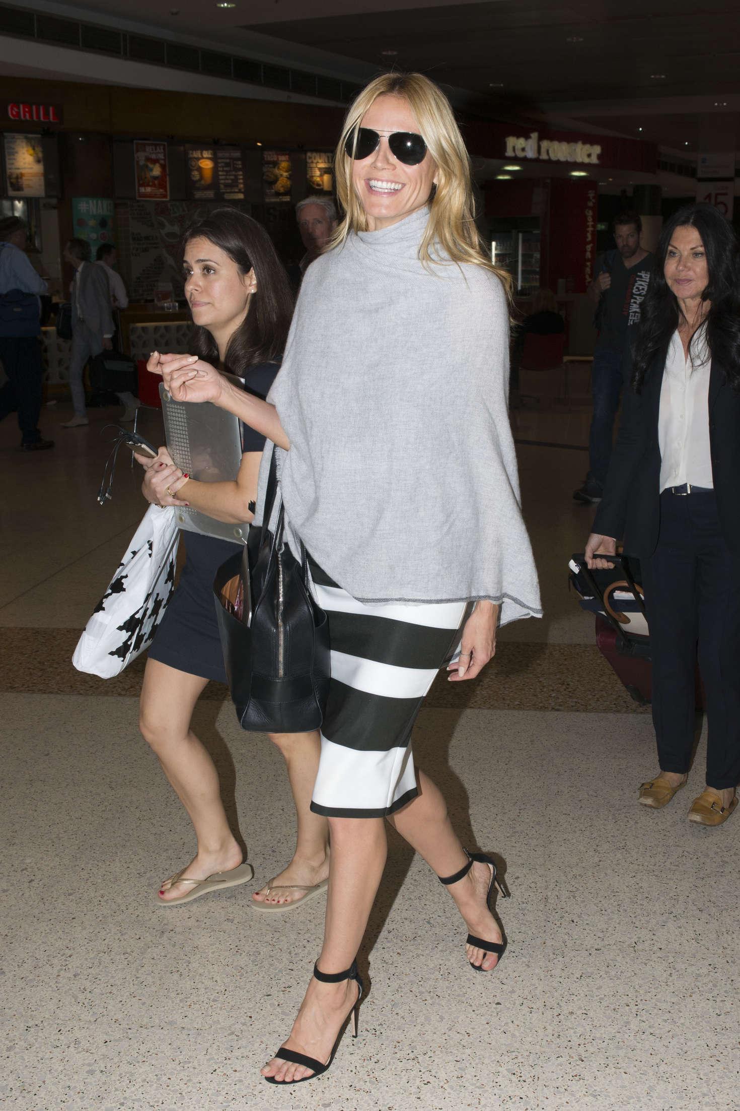 Heidi Klum 2016 : Heidi Klum Arrives at Sydney Airport -17