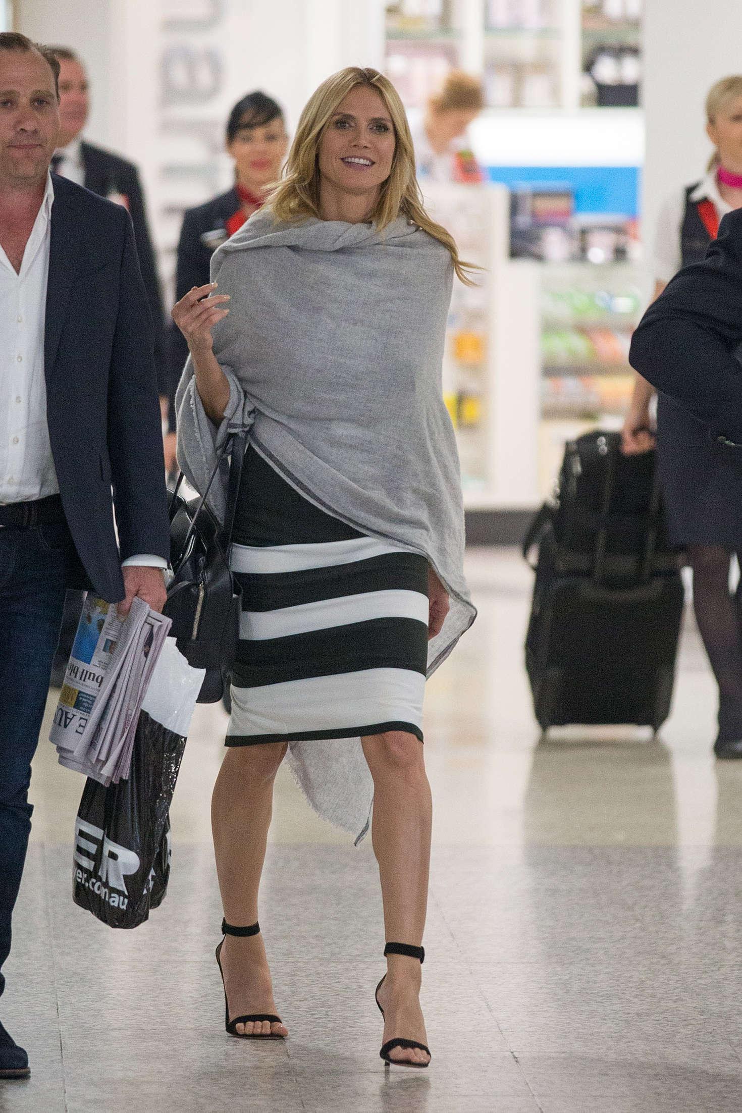 Heidi Klum 2016 : Heidi Klum Arrives at Sydney Airport -18