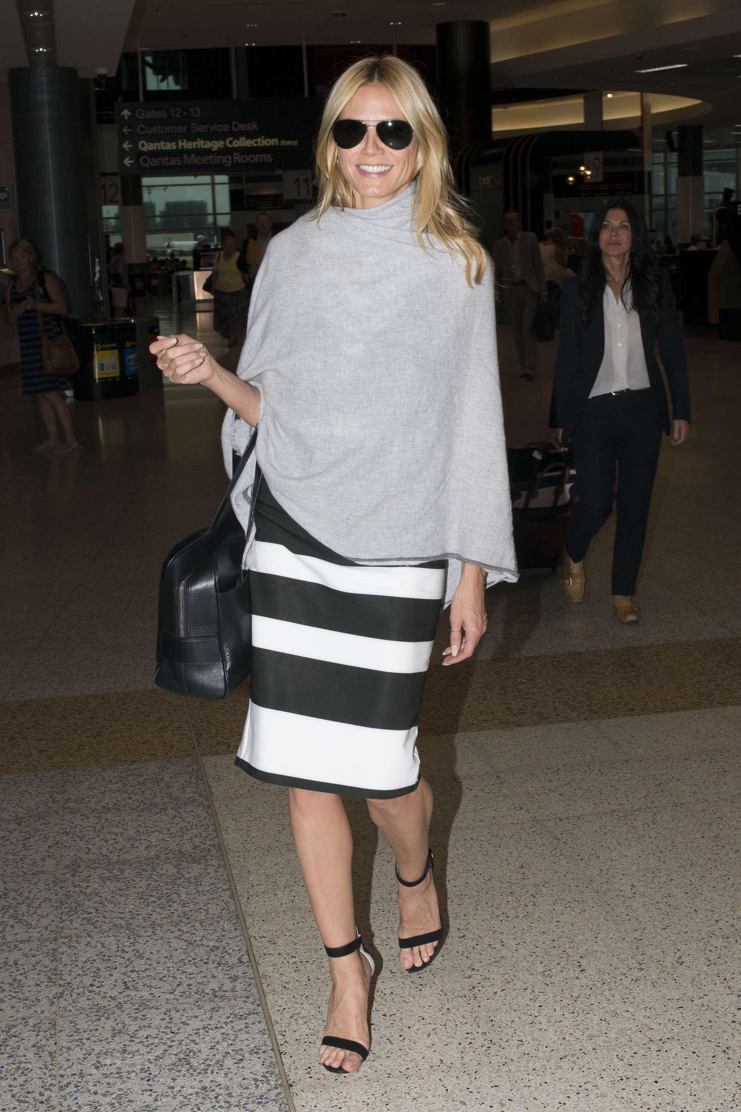 Heidi Klum 2016 : Heidi Klum Arrives at Sydney Airport -19