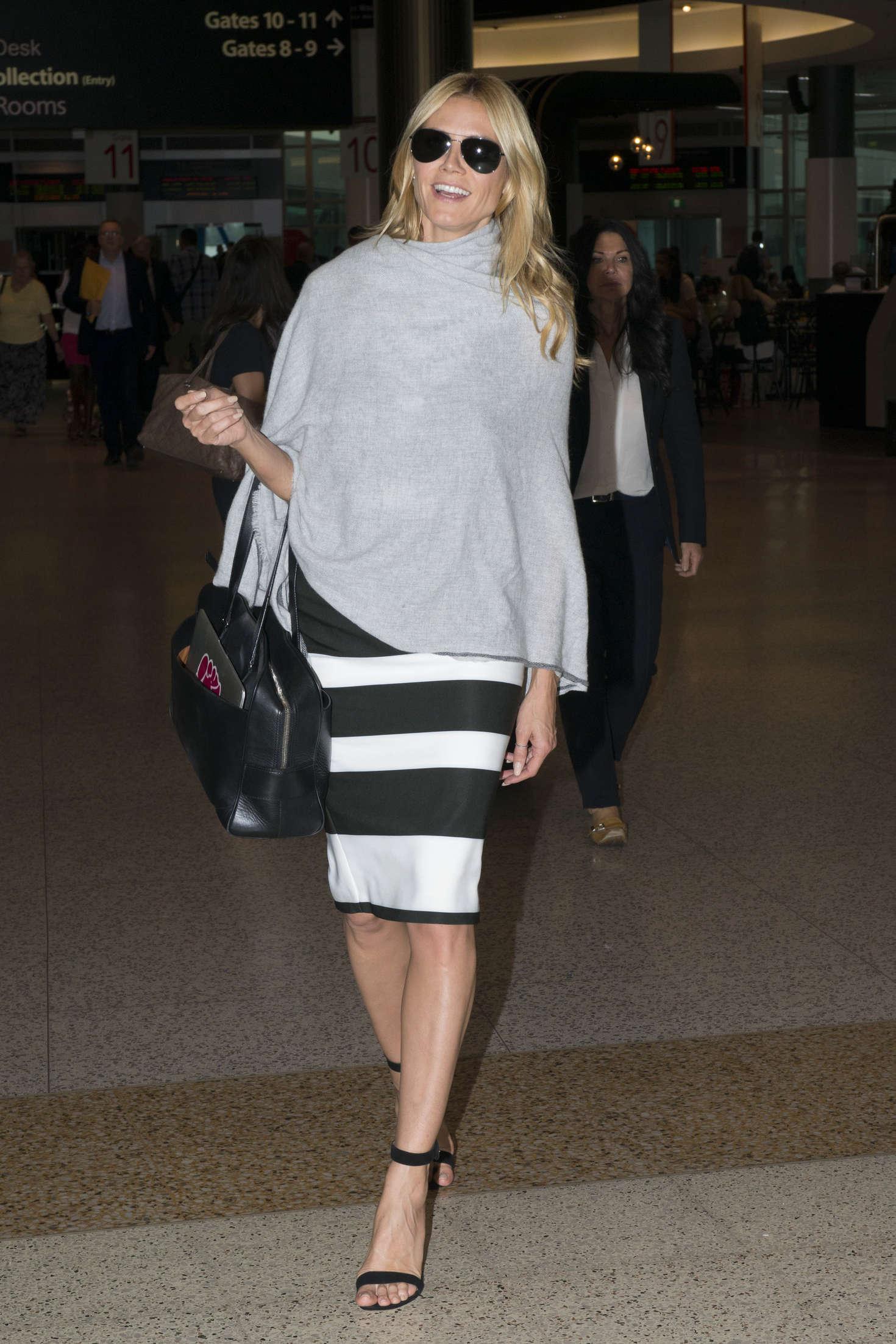 Heidi Klum 2016 : Heidi Klum Arrives at Sydney Airport -22