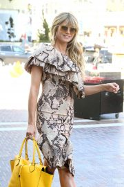 Heidi Klum - Arrives at the America's Got Talent set in Los Angeles