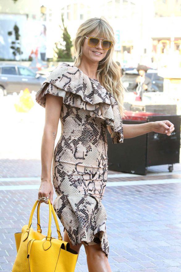 Heidi Klum - Arrives at the America's Got Talent set in Los Angeles
