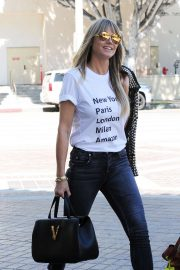 Heidi Klum - Arrives at the Americas Got Talent Champions in Pasadena