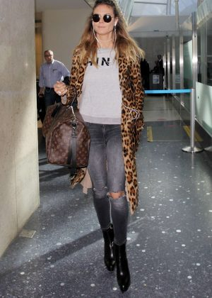 Heidi Klum Arrives at the Los Angeles International Airport