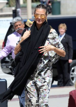 Heidi Klum Arrives at the set of Americia's Got Talent in Pasadena
