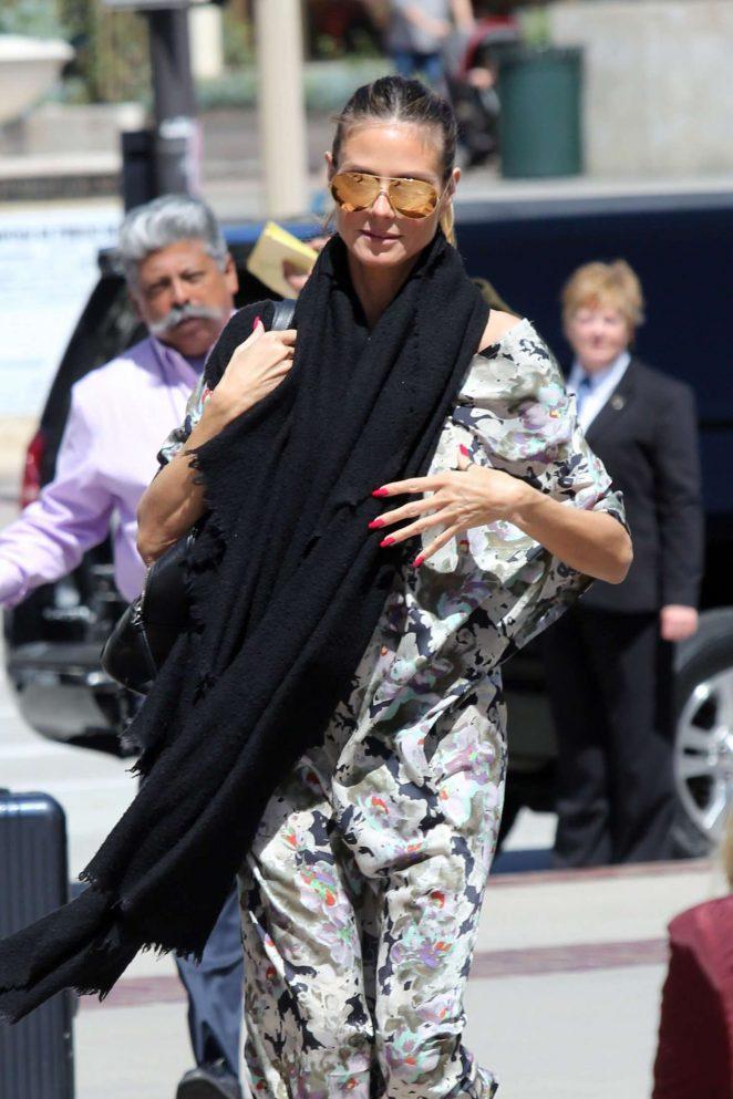 Heidi Klum Arrives at the set of Americia's Got Talent in Pasadena