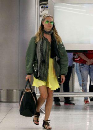Heidi Klum Arrives on a flight from Cuba