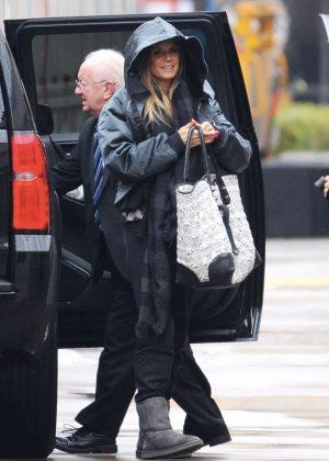 Heidi Klum - Arrives on 'Americas Got Talent' set in Pasadena