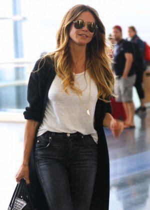 Heidi Klum - Arrives to JFK Airport in New York