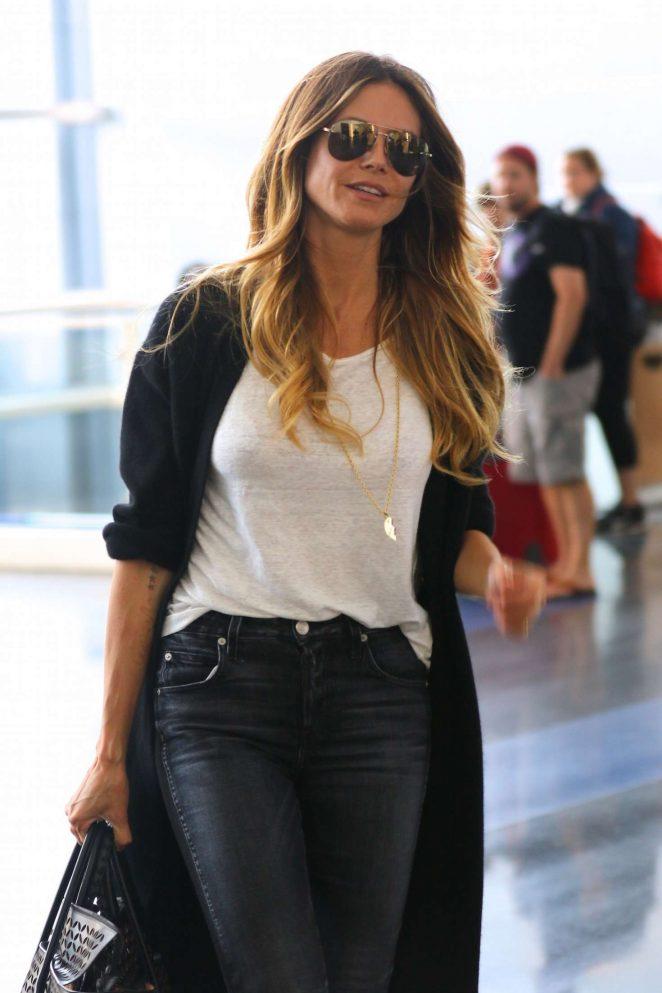 Heidi Klum – Arrives to JFK Airport in New York