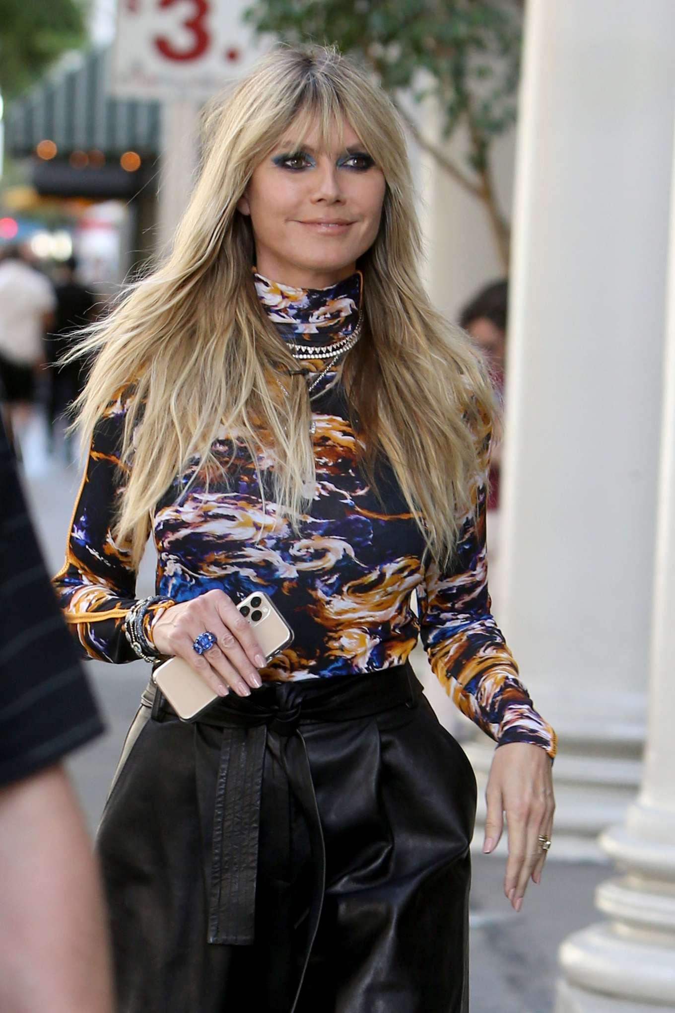 Heidi Klum - Arrives to the 'Germany's Next Topmodel' Set in LA