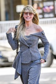 Heidi Klum - Arriving at a taping of America's Got Talent in LA