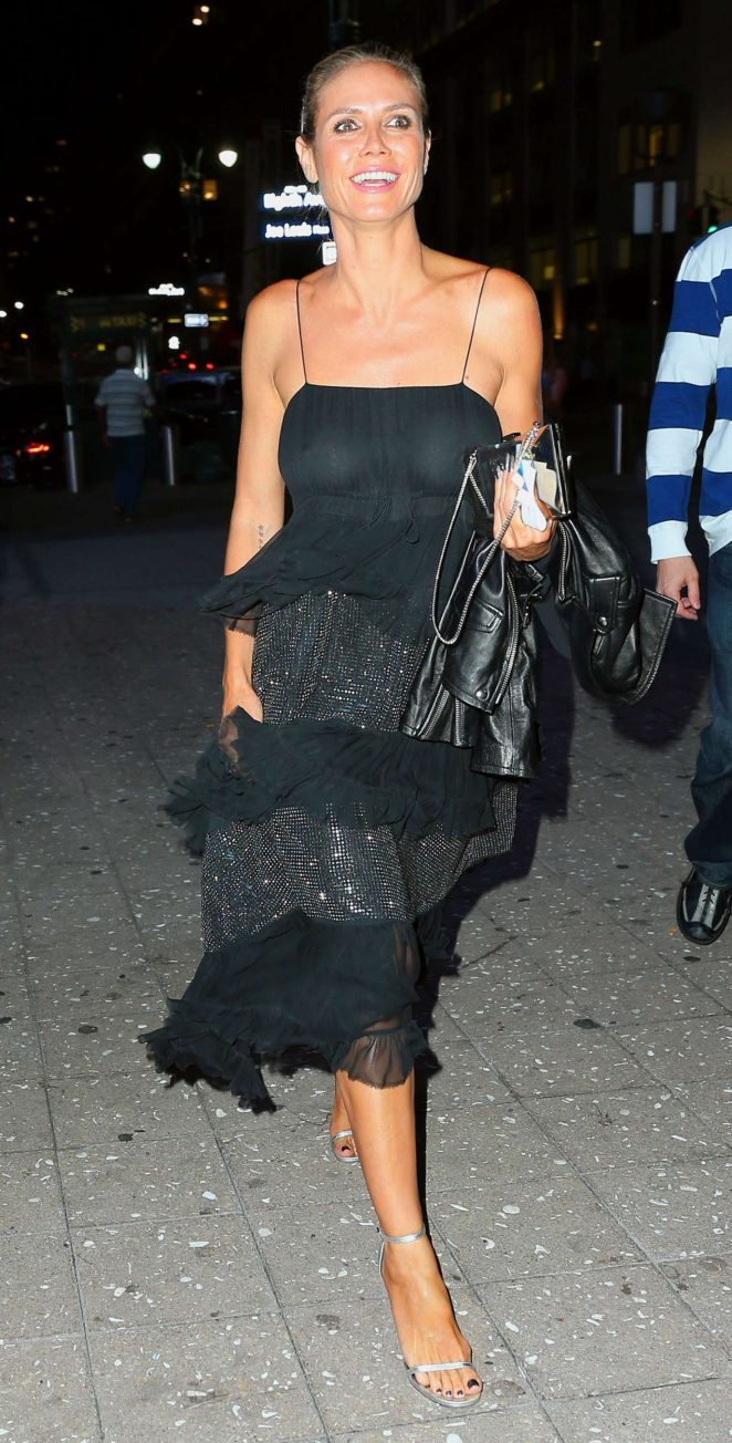 Heidi Klum Arriving at the Drake Concert in New York
