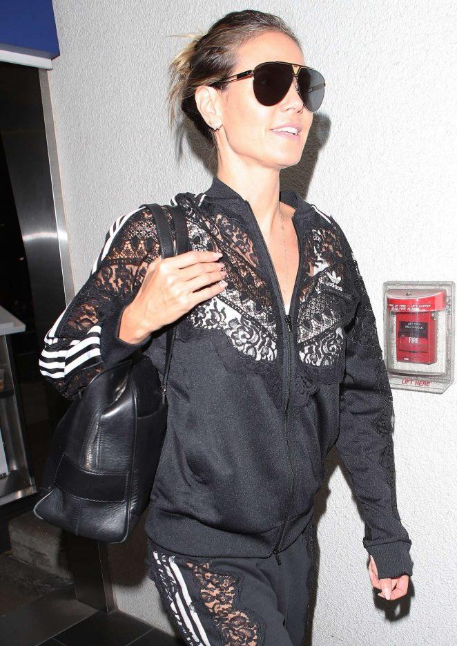 Heidi Klum - Arriving at the Los Angeles International Airport