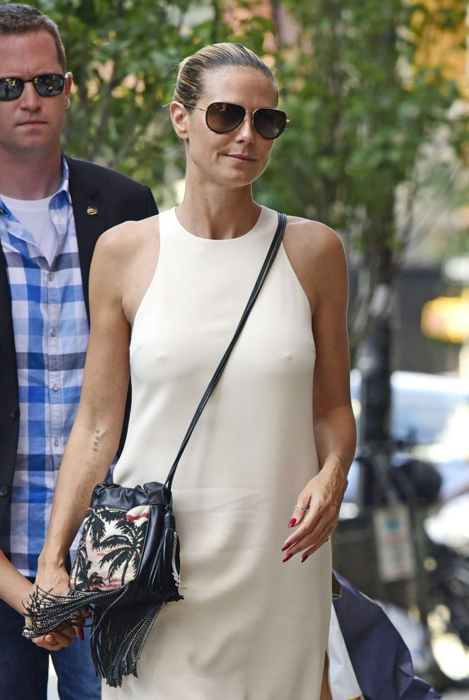 Heidi Klum - Arriving to the Greenwich Hotel in New York