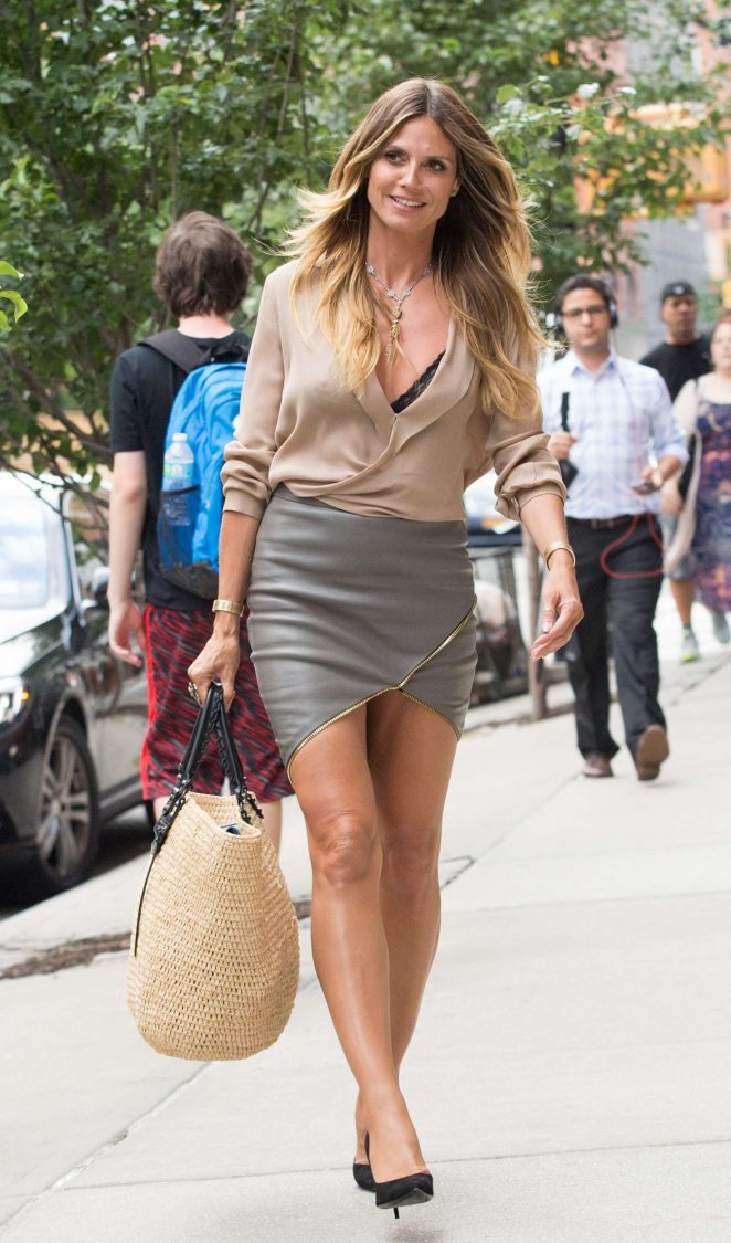 Heidi Klum at Downtown Hotel in New York