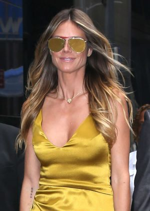 Heidi Klum at 'Good Morning America' in New York City