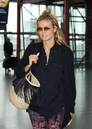 Heidi Klum at Heathrow Airport in London