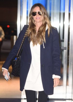 Heidi Klum at JFK Airport in New York City