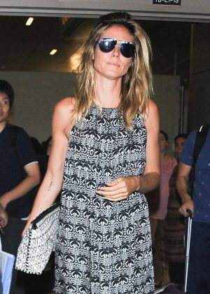 Heidi Klum at LAX Airport in Los Angeles